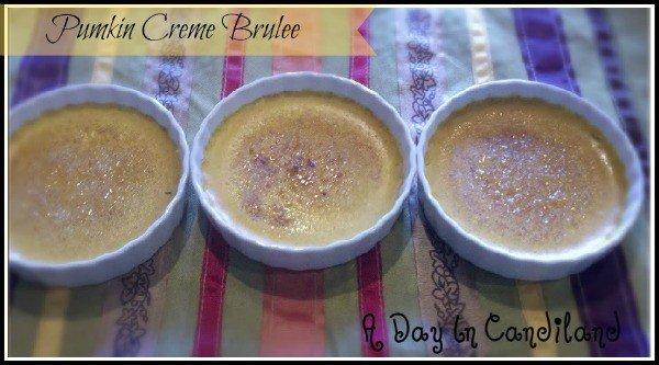Pumpkin Creme Brulee in ramekins