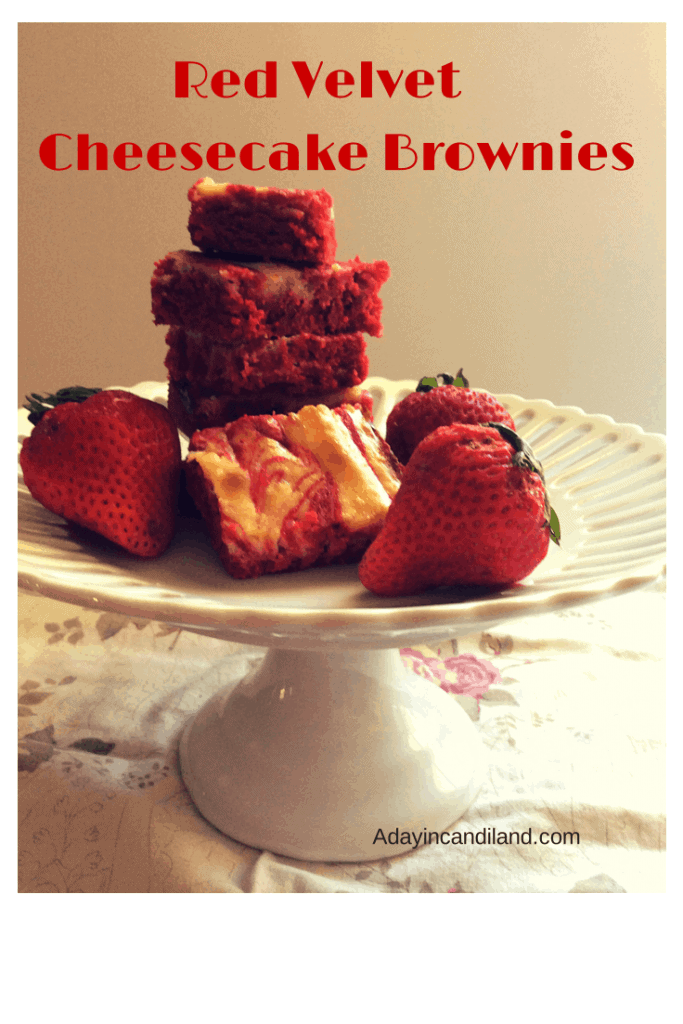 Red Velvet Cream Cheese Brownies give you the best of both worlds with brownies and cheesecake