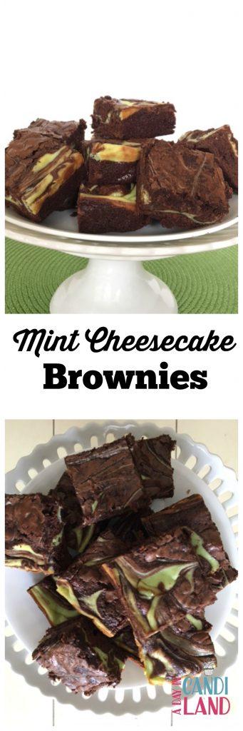 Mint Cheesecake Brownie Recipes Hero Shot