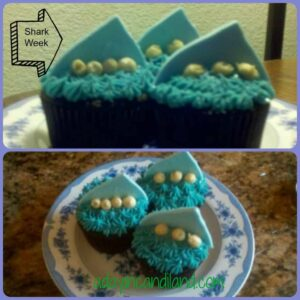 Shark Week cupcakes from adayincandiland.com