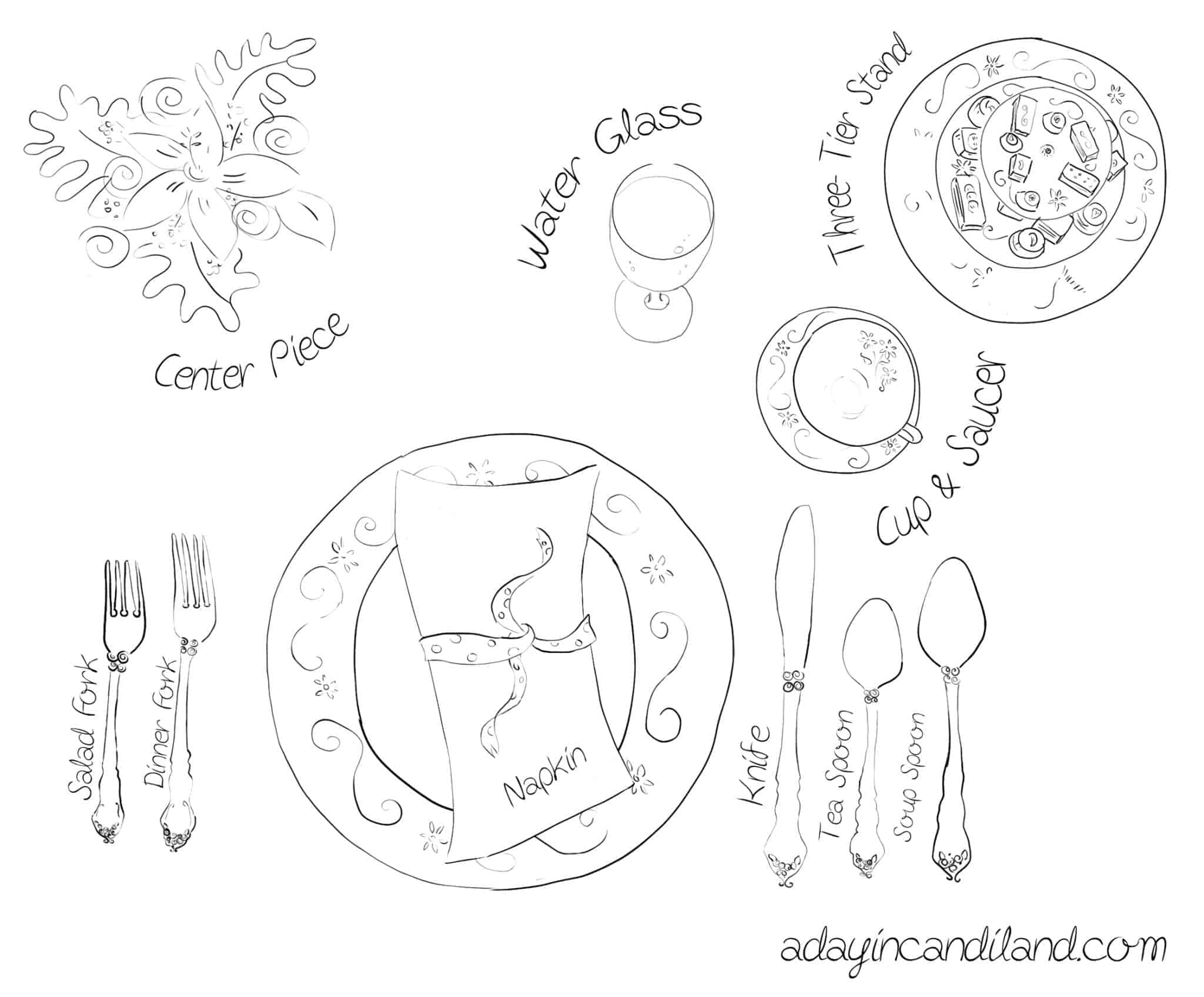 christmas table setting diagram tea etiquette tea faux pas