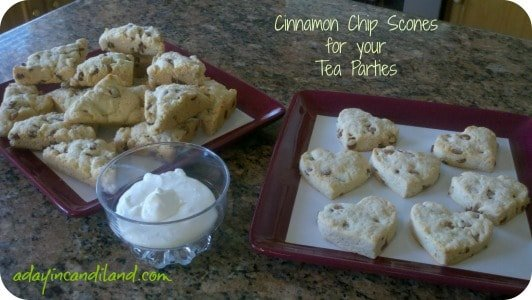 cinnamon scones recipe for Tea Party for Two