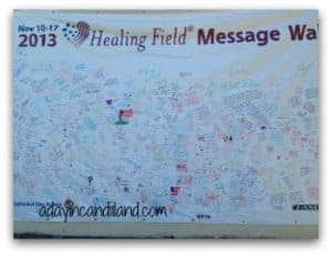Message board for the Healing Fields