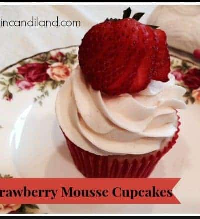 Strawberry Mousse Filled Cupcakes