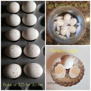 Easy Baked Hard Boiled eggs in oven
