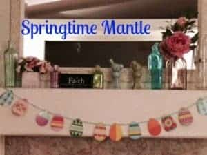 Easter or Springtime Mantle from A Day in Candiland.com
