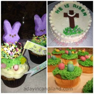 Easter cupcakes and dessert collage