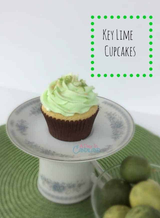 Key Lime Cupcakes with zest