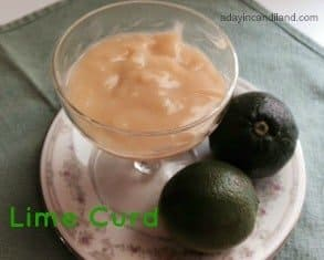 Lime Curd Recipe from A day in Candiland