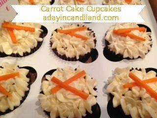 Carrot cake cupcake adayincandiland.com
