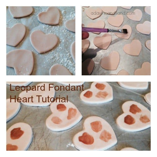 Leopard Fondant Heart Tutorial
