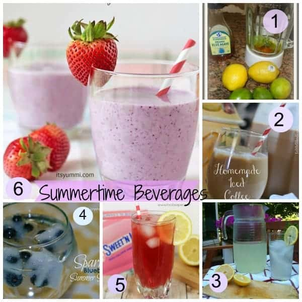 Summertime Beverage Recipes to quench your thirst and keep you cool over the hot summer months.