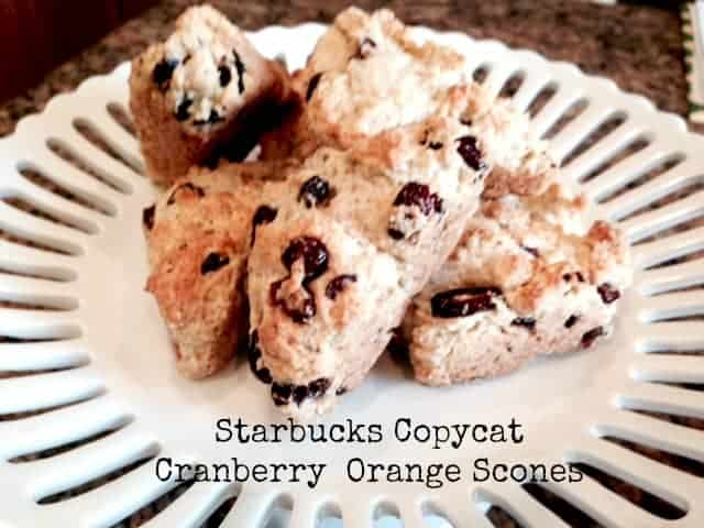 White Pedistal place of starbucks copycat cranberry orange scones