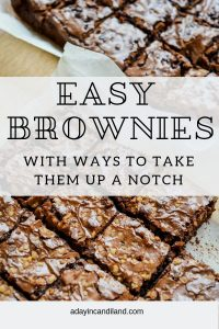 Easy Chocolate Brownie Recipe with sliced brownies on parchment paper