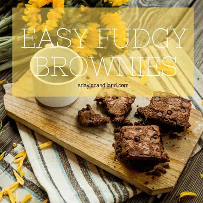 Easy Chocolate Brownie Recipe on cutting board