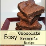 Easy Chocolate Brownie Recipe on plate