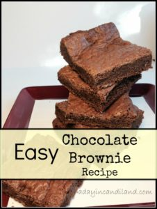 Easy Chocolate Brownie Recipe on plate