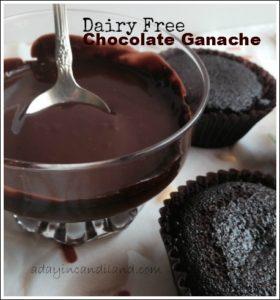 Dairy Free chocolate ganache with Dairy free gluten - free cupcakes