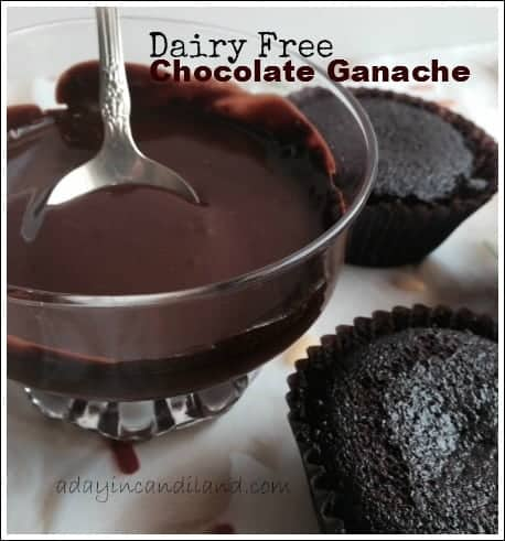 Dairy Free chocolate ganache with Dairy free gluten - free cupcakes