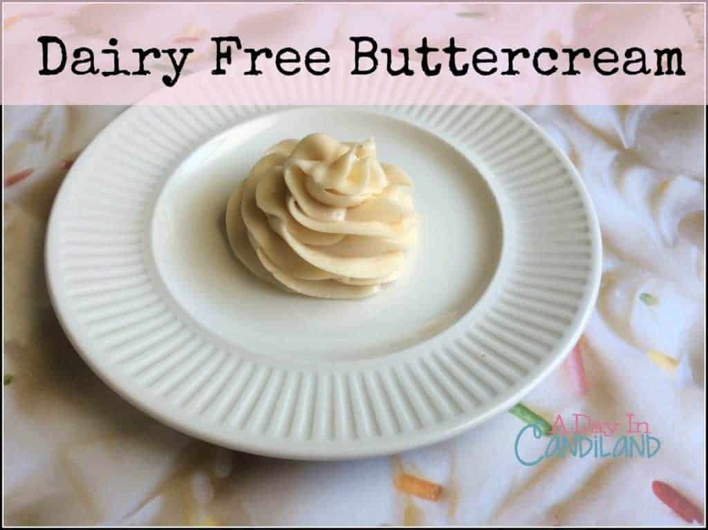 dairy free buttercream on white plate