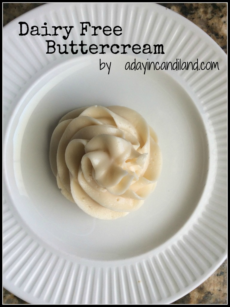 Dairy free buttercream on white plate perfect for vegan cupcakes