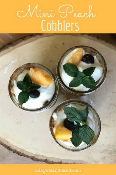 Mini Peach Cobbler in Jars feature image