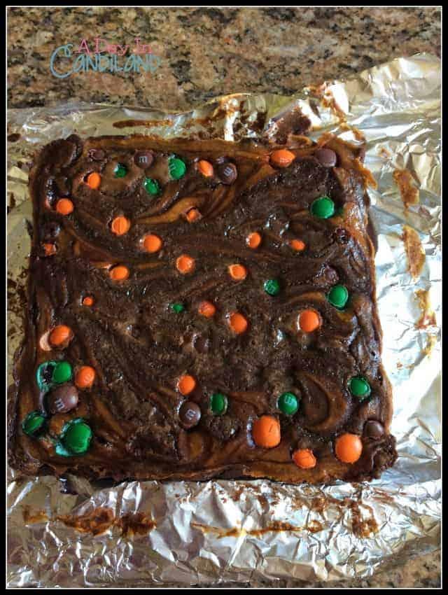 Baked Pumpkin Swirl Cheesecake Brownies