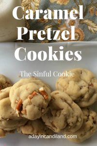 Caramel Pretzel Cookies made with Rolos