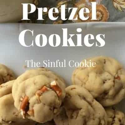 Caramel Filled Pretzel Cookies
