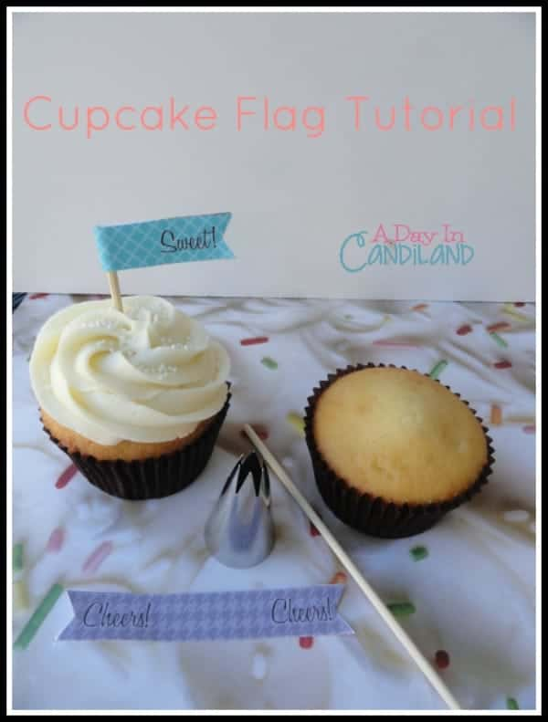 Cupcake Flag tutorial