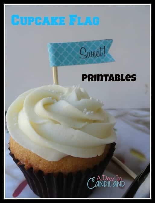 Cupcake Flag Printables