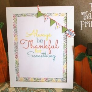 Thankful Printable