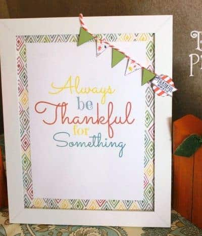 Fall Thankful Printable