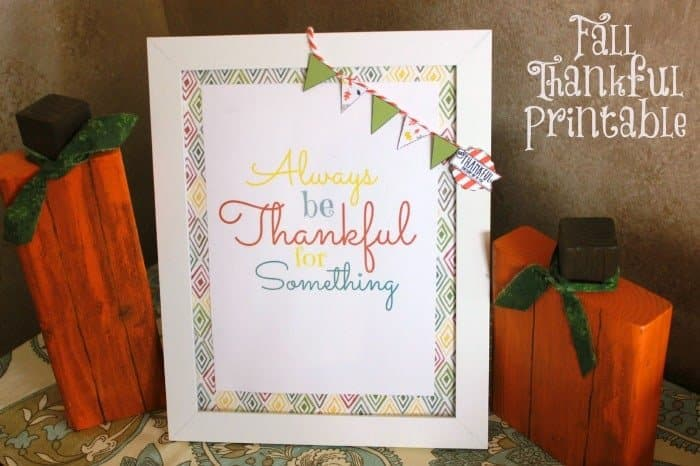 Fall Thankful Printable to create a beautiful hostess gift or printable for a friend