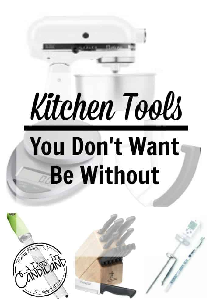 Top Kitchen baking tools you don't want to be without. Be the next Top Chef or Cupcake Wars Queen with these top kitchen tools.