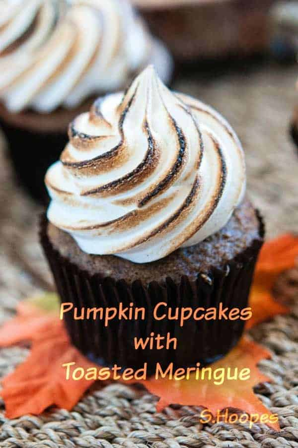 Pumpkin Cupcakes with Meringue