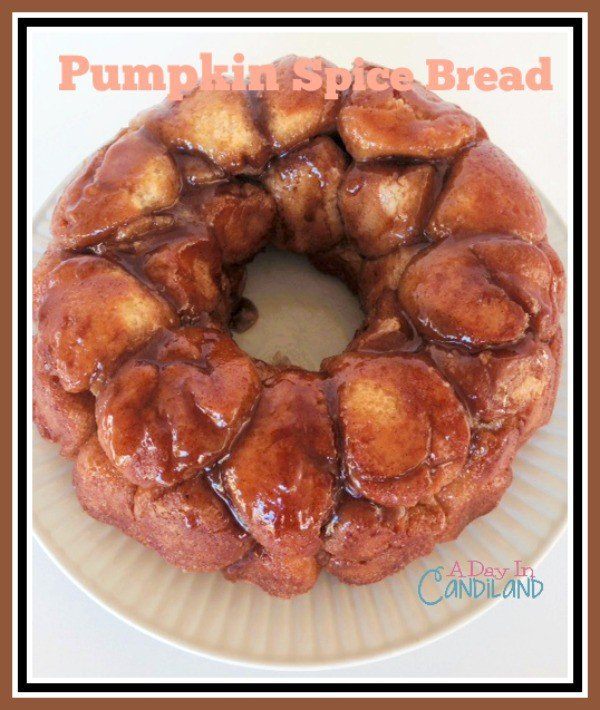 Pumpkin Recipes: Pumpkin Spice Bread Filled with Cream Cheese