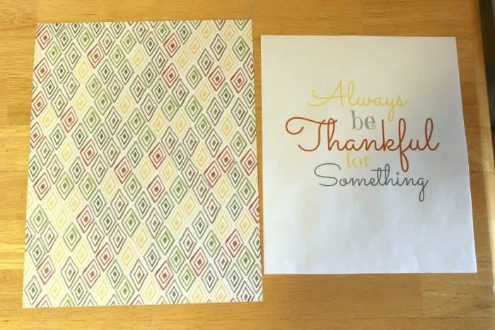 Thankful printable cut