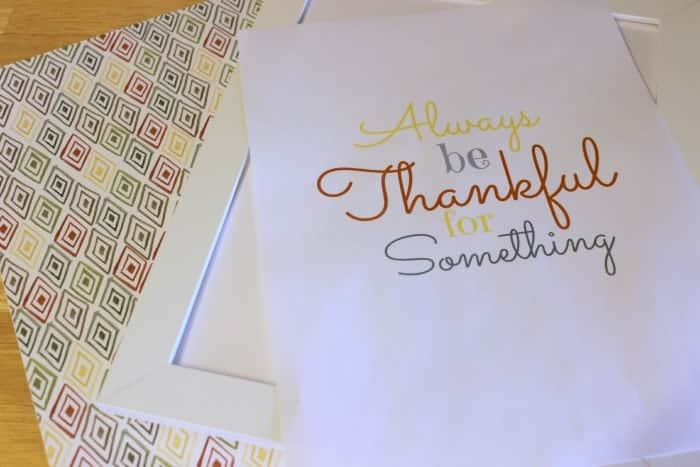 Thankful printable supplies