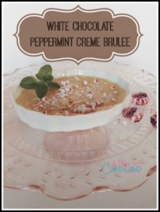 White Chocolate Peppermint Creme Brulee