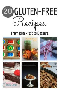 20 Gluten Free Recipes from Breakfast to Dessert