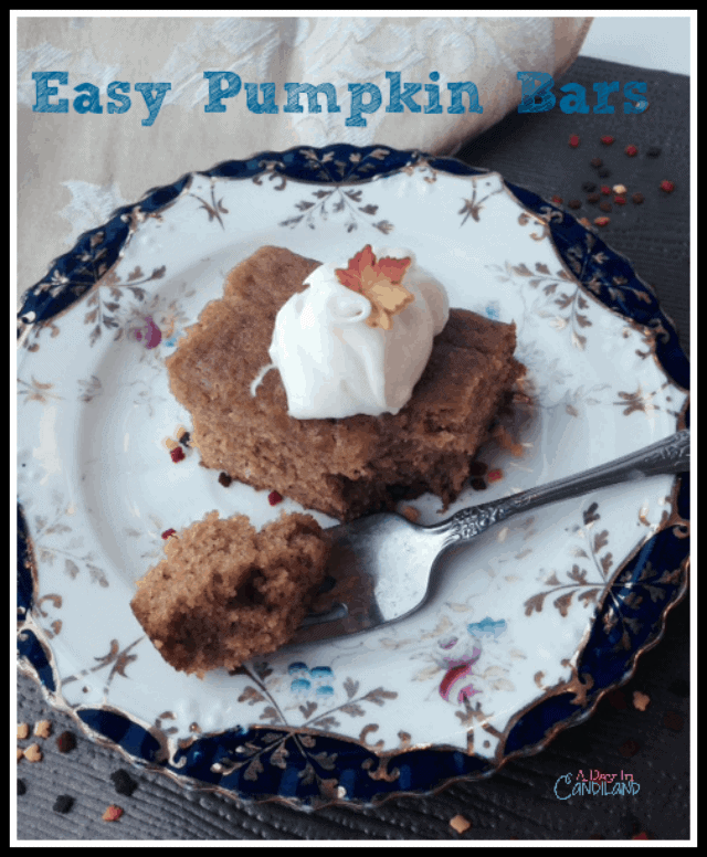 Easy Pumpkin Bars with Cream Cheese Frosting recipe for a quick dessert