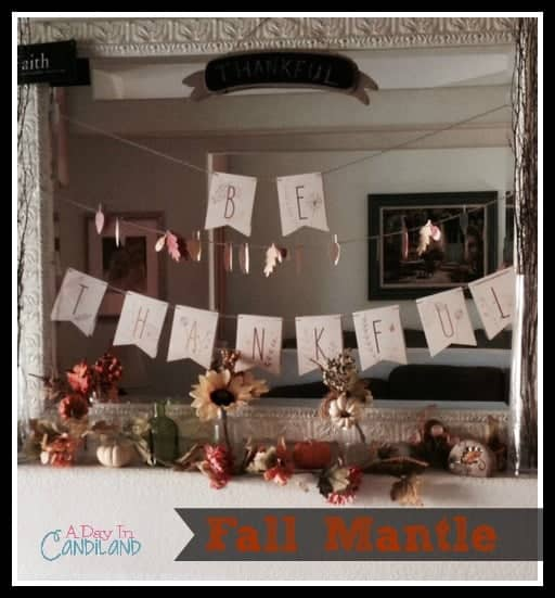 Fall Mantle. How to decorate in 3 steps.