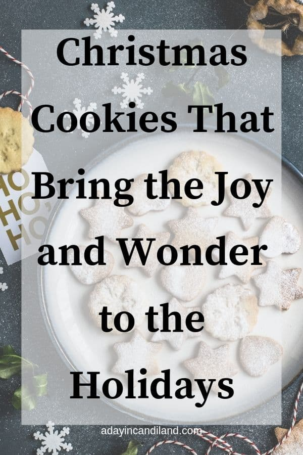 Christmas Cookie Recipes and plate of cookies