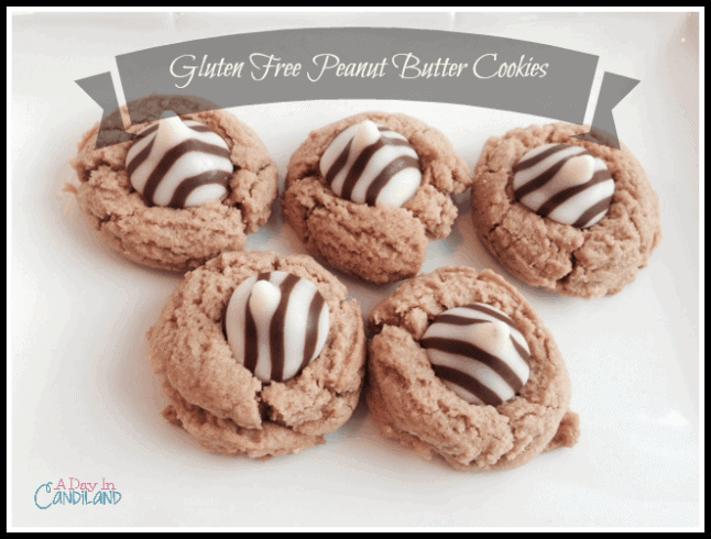 Gluten Free Peanut Butter Cookies on white plate