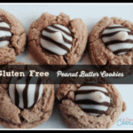 Gluten Free Peanut Butter Cookies with Hershey Hugs