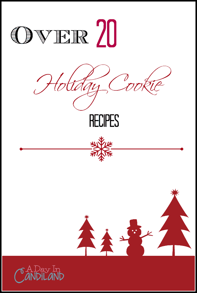 Over 20 Holiday Cookie recipes for all our Christmas and Holiday Parties