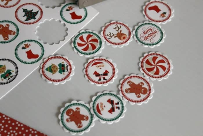 christmas printable punched out