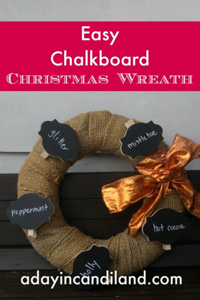 Easy Chalkboard Christmas Wreath