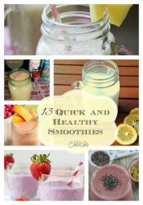 13 Quick and Healthy Smoothies Collage